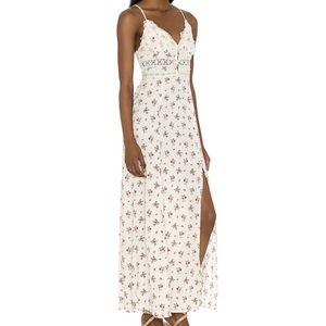 Free People Out & About Maxi Dress Floral Cream